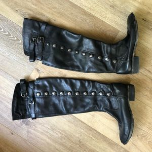 Sam Edelman Black Leather Over The Knee Boot 8
